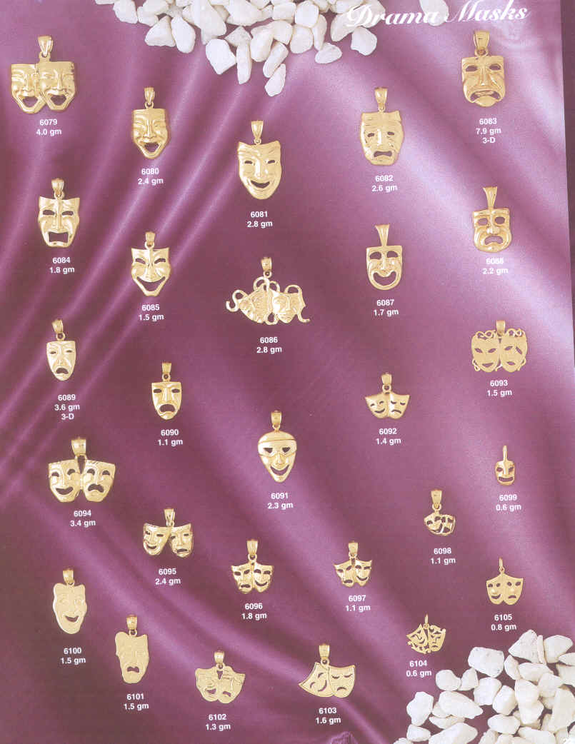 theatre gifts drama Masks Comedy masks Tragedy masks gifts pendants and charms drams masks comedy tragedy theatre